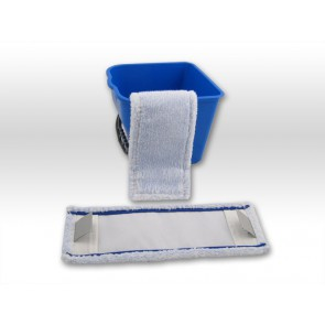 raue Fliesen / rutschfeste Beläge - spezial Microfaser Mopp 40cm Tasche Lasche