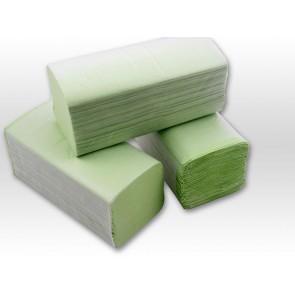 Papierhandtuch 25 x 23cm 1 lagig grün V-Falz 250 passend Tork