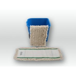 Baumwoll Wischmopp 50cm Multi Mopp 100% Baumwolle Echtholzbodenmopp Parkett
