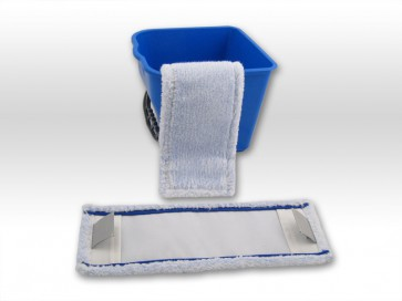 Wischmop raue Fliesen / rutschfeste Beläge - spezial Microfaser Mop 40cm Tasche Lasche