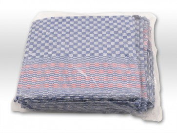 Küchentuch Grubenhandtuch 50cm x 100cm blau karriert 10er Pack
