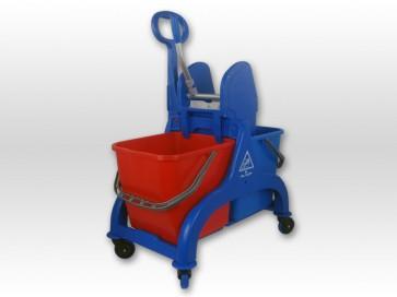 Doppelfahreimer-Kunststoff 2 x 25Liter mit Griff Reinigungswagen Wischwagen