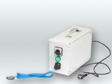 Schaltkasten tragb. Netzteil mit Fernbedienung Vorwärtslauf einstellbar Rotaqleen Bürsten 230V/24V