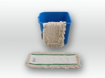 Baumwoll Wischmop 40cm Multi Mop 100% Baumwolle Echtholzbodenmop Parkett (geölt)