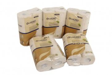 WC Papier 3 lagig aus Tetrapack EcoNatural 6.3  von Lucart 30 Rollen Toilettenpapier