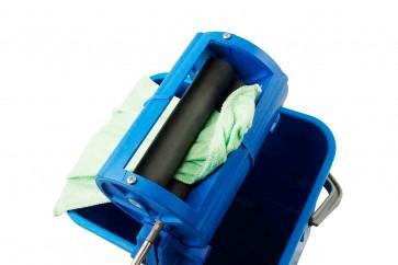 Rollenpresse für Tücher, Möpe, Fensterleder oder Microfasertücher mit 10 Liter Eimer