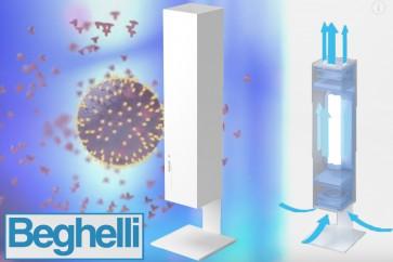 Luftreiniger Sanifica Aria 30 mit UVC Licht tötet wirksam bis zu 99,9% Bakterien und Keime sowie Corona Viren ab