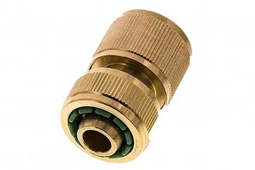"""Kupplungsdose Schlauch 19 mm (3/4"""") , Messing, mit Wasserstopp"""