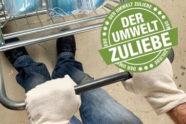 Einkaufshandschuhe Baumwolle waschbar 1 Paar - kein Plastikmüll anstelle Nitril Handschuhe