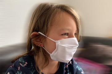 Kinder Mund- und Nasenmaske Gesichtsmaske 2 lagig 100 % Baumwolle waschbar  wiederverwendbar Made in EU mit Gummiband OEKO-TEX Standard 100 Zertifikat