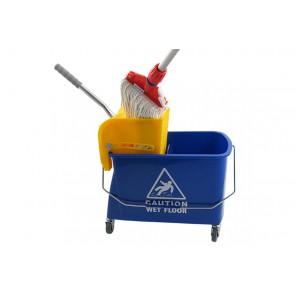 Mini Fahreimer incl. Presse 17Liter 2-Fachsystem Reinigungswagen