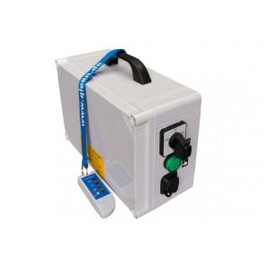 Schaltkasten tragb. Netzteil mit Fernbedienung Vorwärtslauf einstellb. für Rotaqleen 12V/24V  für Anschluss an Batterie von Puraqleen