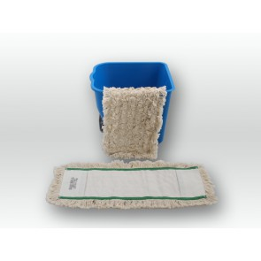 Baumwoll Wischmop 50cm Multi Mop 100% Baumwolle Echtholzbodenmop Parkett (geölt)