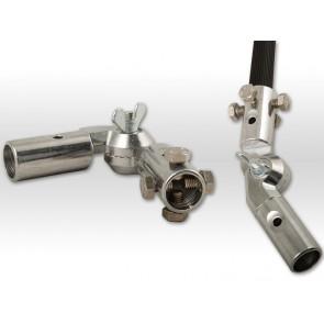 Alu-Gelenk-Adapter mit 4 Edelstahlschrauben M8