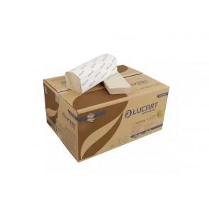 Papierhandtuch aus Tetrapack EcoNatural V 2.25 von Lucart 21x25,3cm 2 lagig V-Falz 3800 passend Tork