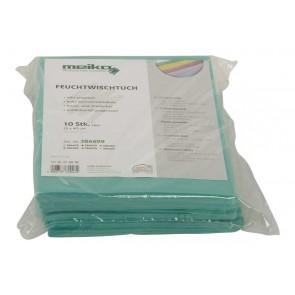 10er Pack beschichtetes Meiko Feuchtwischtuch 35 x 40 grün Reinigungstuch
