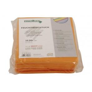 10er Pack beschichtetes Meiko Feuchtwischtuch 35 x 40 orange Reinigungstuch