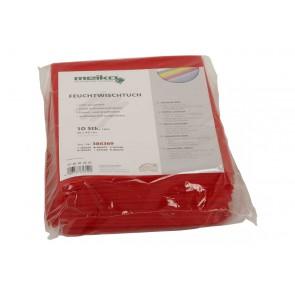 10er Pack beschichtetes Meiko Feuchtwischtuch 35 x 40 rot Reinigungstuch