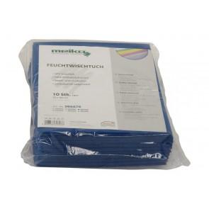 10er Pack beschichtetes Meiko Feuchtwischtuch 35 x 40 blau Reinigungstuch
