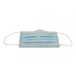 kostenlos 1 x Gesichtsmaske Mundschutz Atemschutz Blau 3 lagig