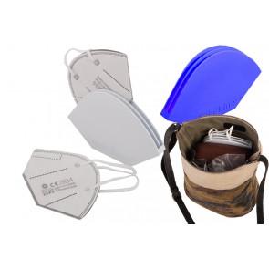 FFP2 Aufbewahrungsbox - Case - die Aufbewahrung für Ihre FFP2 Maske, Axis Line ® in Doppel- oder Einfachvariante