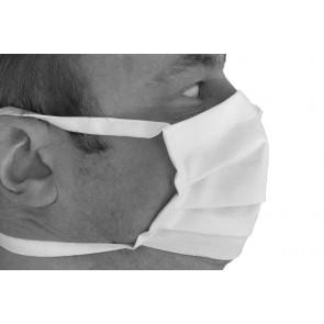 kein Schmerz an Ohren - Mund- und Nasenmaske Gesichtsmaske 100 % Baumwolle 2 lagig  Made in Germany mit Nasendraht gut für Brillenträger und 2 Bändern