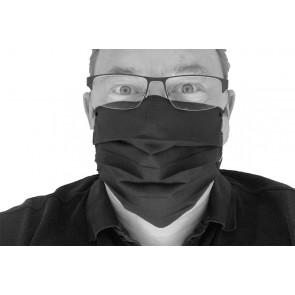 Mund- und Nasenmaske Gesichtsmaske 2 lagig 100 % Baumwolle waschbar  wiederverwendbar Made in EU mit Gummiband OEKO-TEX Standard 100 Zertifikat