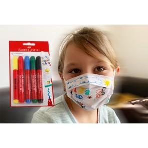 Textilstift für Mundmaske - Für Groß und Klein ein riesen Spaß eigenes Design auf Maske malen