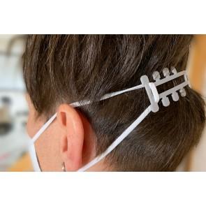 Maskenhalter 2er Set mit und ohne Haarkamm für besseren Halt gegen Ohrschmerzen durch Masken