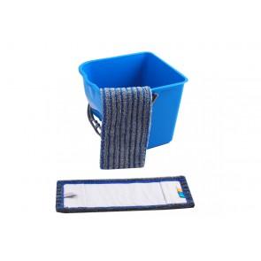 Fliesen Borstenmop blau/grau (abrasiv) 40cm farbcodiert
