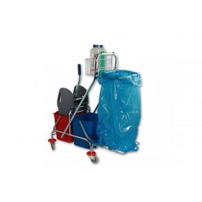 Doppelfahreimer Chrom 2 x 17 Liter mit Müllsackhalter